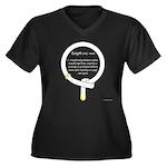 Knight Women's Plus Size V-Neck Dark T-Shirt