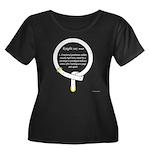 Knight Women's Plus Size Scoop Neck Dark T-Shirt