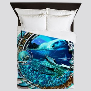 fluid dynamics Queen Duvet