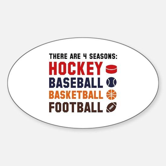 Four Seasons Sports Sticker (Oval)