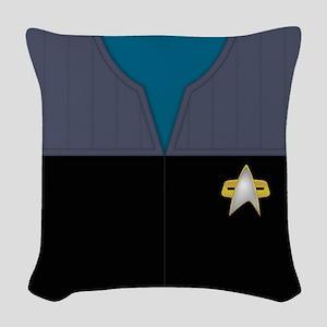 Starfleet Uniform: Science - Woven Throw Pillow
