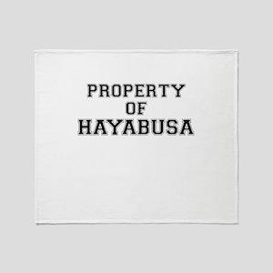 Property of HAYABUSA Throw Blanket