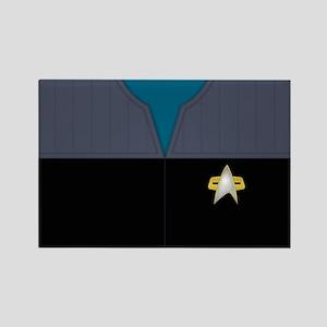Starfleet Uniform: Science - No Rectangle Magnet