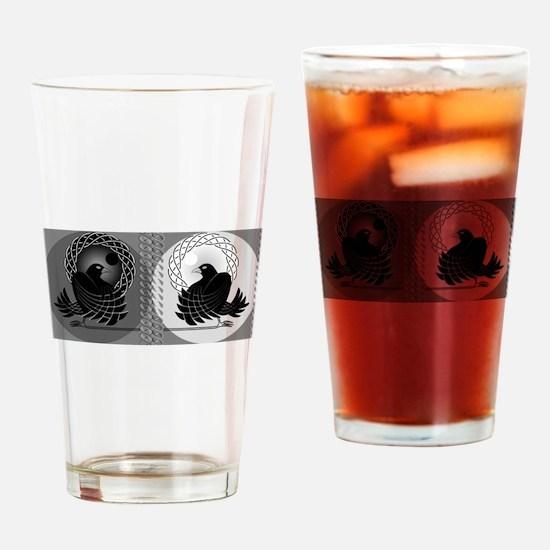 Huginn and Muninn Drinking Glass