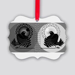 Huginn and Muninn Picture Ornament