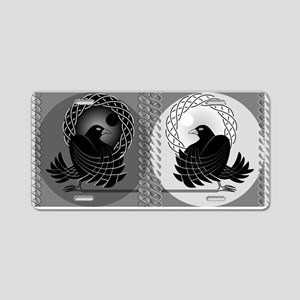 Huginn and Muninn Aluminum License Plate