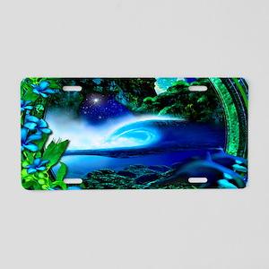 frigid glass Aluminum License Plate