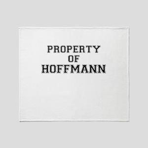Property of HOFFMANN Throw Blanket