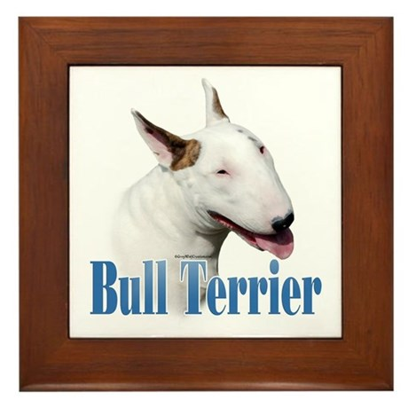 Bull Terrier Name Framed Tile