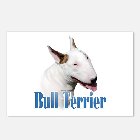Bull Terrier Name Postcards (Package of 8)