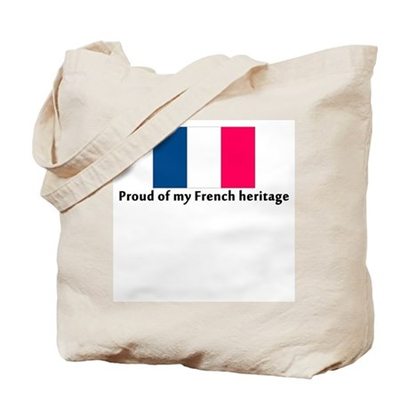 Proud of my French Heritage Tote Bag
