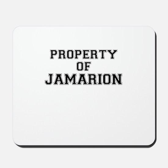 Property of JAMARION Mousepad