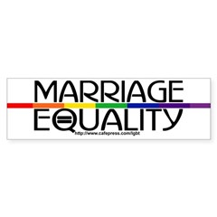 MARRIAGE EQUALITY Bumper Bumper Sticker