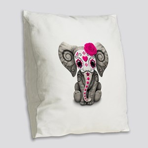 Pink Day of the Dead Sugar Skull Baby Elephant Bur