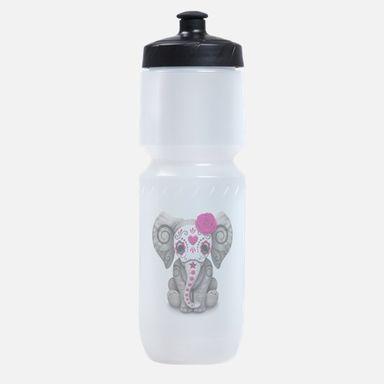Pink Day of the Dead Sugar Skull Baby Elephant Spo