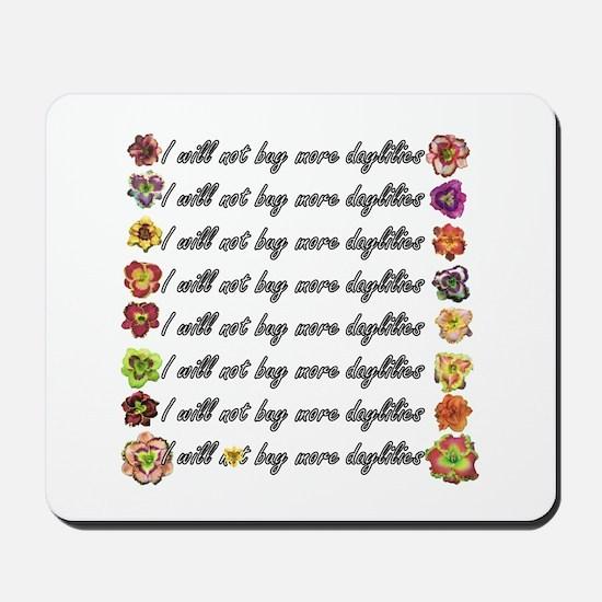 Buy more daylilies Mousepad