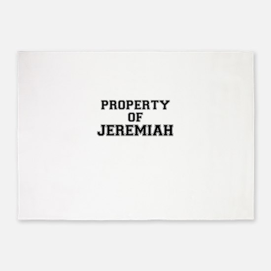 Property of JEREMIAH 5'x7'Area Rug