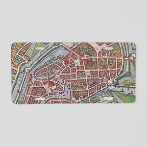 Vintage Map of Hamburg Germ Aluminum License Plate