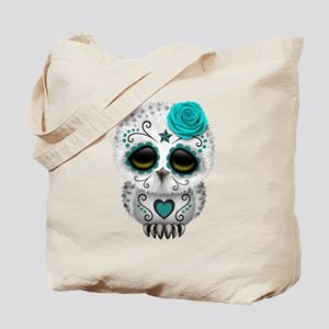 Cute Teal Blue Day of the Dead Sugar Skull Owl Tot