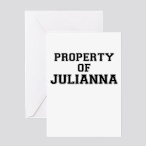 Property of JULIANNA Greeting Cards