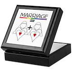 MARRIAGE EQUALS HEART PLUS HE Keepsake Box