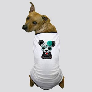 Teal Blue Day of the Dead Sugar Skull Panda Dog T-