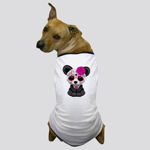 Pink Day of the Dead Sugar Skull Panda Dog T-Shirt