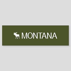 Montana: Moose (Mountain Green) Bumper Sticker