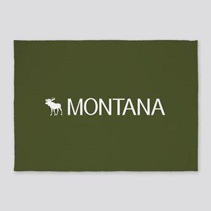 Montana: Moose (Mountain Green) 5'x7'Area Rug