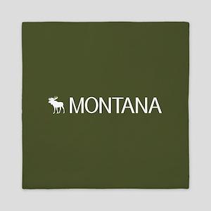 Montana: Moose (Mountain Green) Queen Duvet