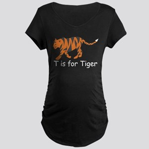 T is for Tiger Maternity Dark T-Shirt