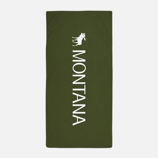 Montana: Moose (Mountain Green) Beach Towel