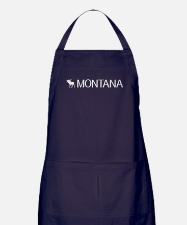Montana: Moose (White) Apron (dark)