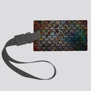 All Seeing Pattern Large Luggage Tag