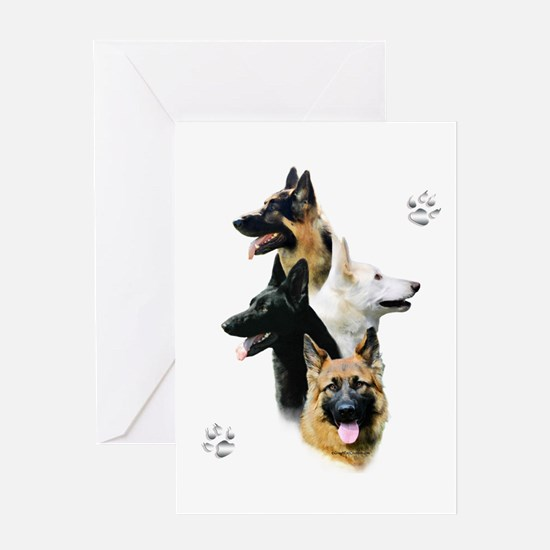 GSD Quad Greeting Card