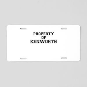Property of KENWORTH Aluminum License Plate