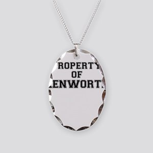 Property of KENWORTH Necklace Oval Charm