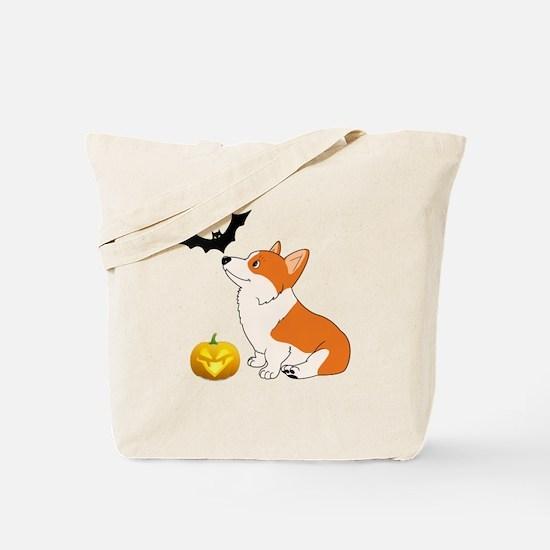 Halloween Corgi Tote Bag