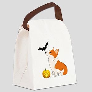 Halloween Corgi Canvas Lunch Bag