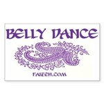 Belly Dance Rectangle Sticker