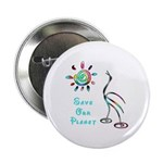 """Save Our Planet 2.25"""" Button"""