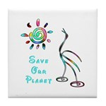 Save Our Planet Tile Coaster