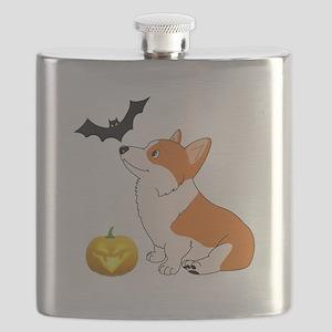 Halloween Corgi Flask