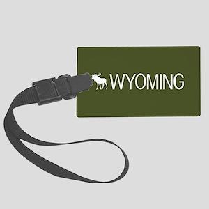 Wyoming: Moose (Mountain Green) Large Luggage Tag