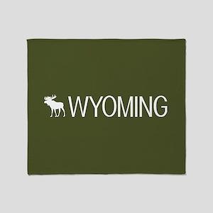 Wyoming: Moose (Mountain Green) Throw Blanket
