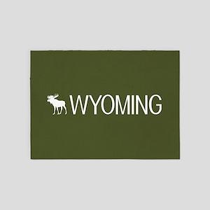 Wyoming: Moose (Mountain Green) 5'x7'Area Rug