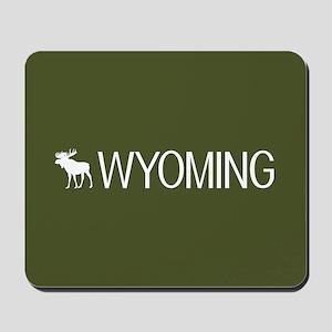 Wyoming: Moose (Mountain Green) Mousepad