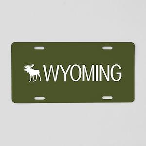 Wyoming: Moose (Mountain Gr Aluminum License Plate
