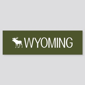 Wyoming: Moose (Mountain Green) Sticker (Bumper)