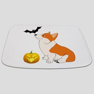 Halloween Corgi Bathmat
